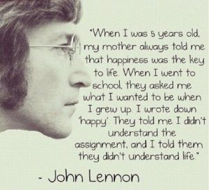 happiness John Lennon